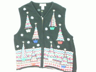 Triangle Trees-Large Christmas Sweater
