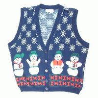 Standing In The Snow-Large Christmas Sweater