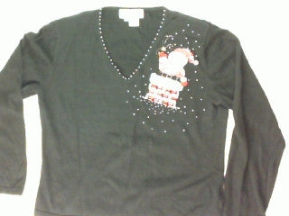 Diamonds Raining From the Chimney Small Christmas Sweater