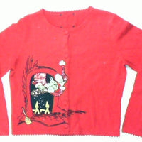 Be Careful The Grinch Is In The Fireplace Small Christmas Sweater