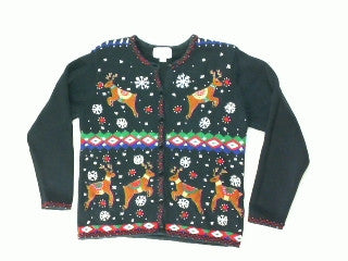 Reindeer Romp Small Christmas Sweater