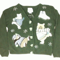 Skatin Cats- Small Christmas Sweater
