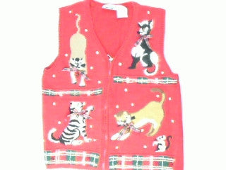 Pouncing Plaid-X Small Christmas Sweater