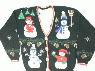 Snowman Craze- Small Christmas Sweater