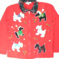Sweet Sweater Scotties- Small Christmas Sweater