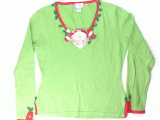 Brightly Stated Bearded Diamonds- X Small Christmas Sweater