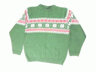 Lil Man Snowflakes-Boys 10/12 Christmas Sweater