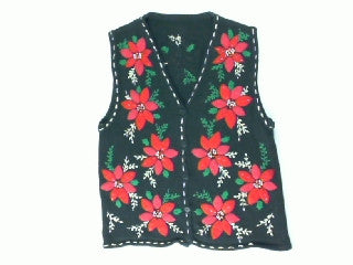 Pageant Poinsettias- X Small Christmas Sweater