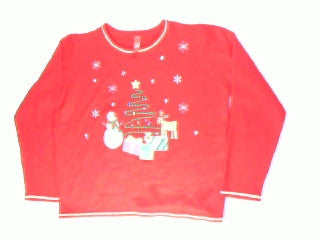 Jolly and Jeweled For the Holiday-Large Christmas Sweater
