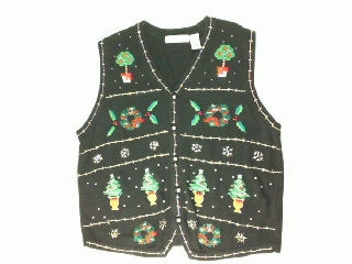 Pretty Holiday Planters- Large Christmas Sweater
