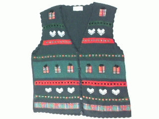 Packaged in Plaid-Large Christmas Sweater