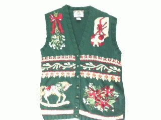 Rocking The Horse To The Holidays-Small Christmas Sweater