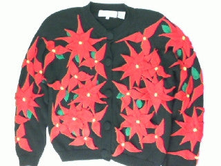 Puking Poinsettias-Small Christmas Sweater