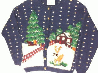 Lonesome Deer-X Small Christmas Sweater