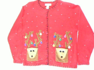 Pick Pocket Reindeer- Small Christmas Sweater