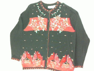 Redbird Delight-Large Christmas Sweater