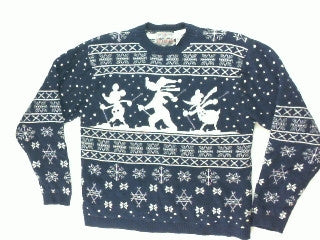 Taking A Strut Through the Woods-Large Christmas Sweater