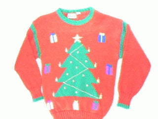 Crafted By A Kindergartner-Small Christmas Sweater