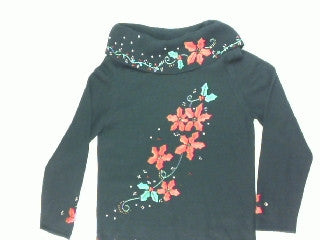 Crawling Poinsettia Vine-Small Christmas Sweater