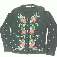 Decked Out In Poinsettias-Small Christmas Sweater