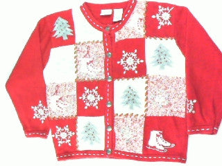 Hitting The Rink-Large Christmas Sweater