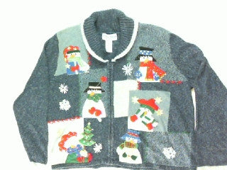 Many Face of Winter- Large Christmas Sweater