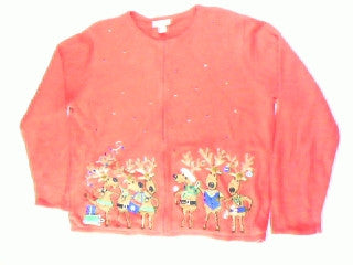 Dancing Reindeer-Large Christmas Sweater