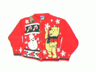 Bear Catching Snowflakes-Kids Christmas Sweater