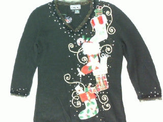 Party In The Stockings- X Small Christmas Sweater