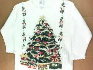 Victorian Lit Tree- Medium Christmas Sweater
