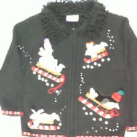 Belly Sledding Fun-Kids Christmas Sweater