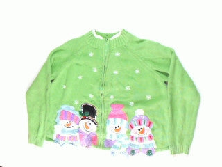 Smiling Face Warming Hearts-Medium Christmas Sweater