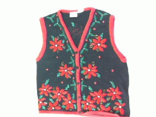 Poinsettia Passion-Small Christmas Sweater
