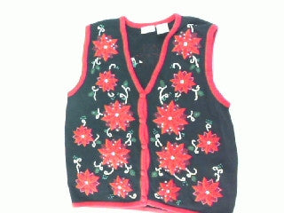 Poinsettia Explosion-Small Christmas Sweater