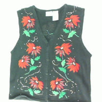 Poinsettia Chain-Small Christmas Sweater