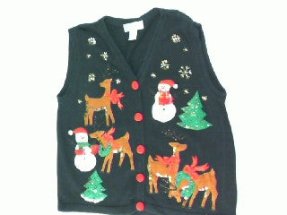 Reindeer Mishaps and Games-Small Christmas Sweater