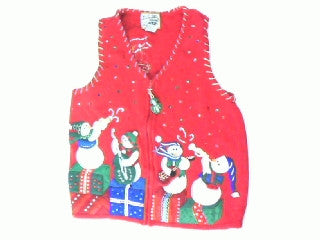 Snowman Band For You- Small Christmas Sweater