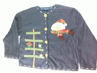 Snowfelt Snowman-Large Christmas Sweater