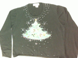 Trimming the Tree with Beads- Small Christmas Sweater