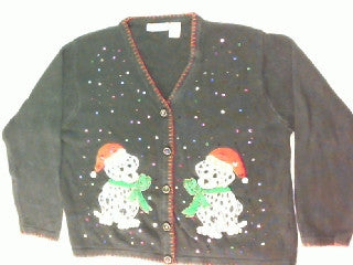 Seeing Double Trouble-Large Christmas Sweater