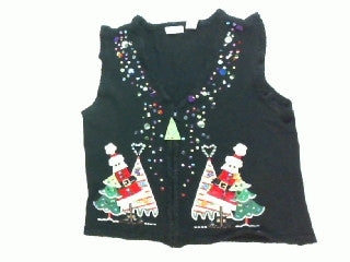 Triangles and Sparkles On The Tree-Small Christmas Sweater