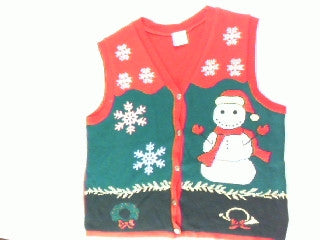 Smiley The Snowman-Large Christmas Sweater