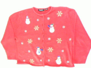 Snowflurry Into Snowflakes-Large Christmas Sweater