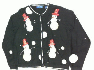 Red Top Snowman-Medium Christmas Sweater