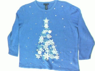 Snowflakes Are Blue For You-Medium Christmas Sweater