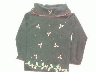 Golden Holly- Small Christmas Sweater