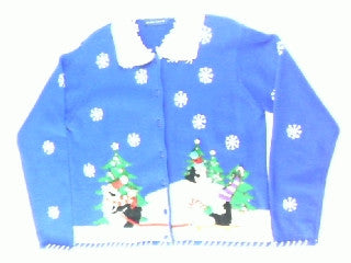 Penguin Tree Tour- Small Christmas Sweater