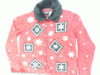 Furry Fashion Flakes-Small Christmas Sweater