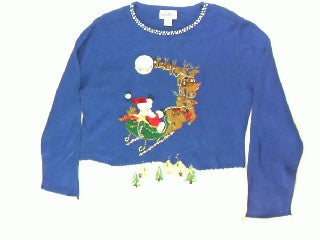 Into The Night He Flies- Small Christmas Sweater
