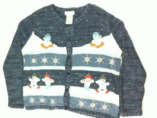 Winter Play Time-Large Christmas Sweater